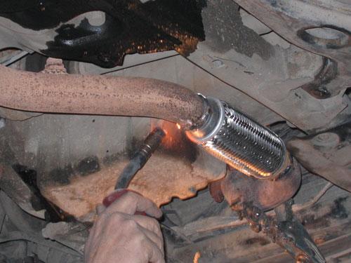 Замена глушителя своими руками форд 467